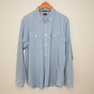 BKE Athletic Fit Button Down Checkered Shirt, XL